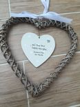 Bride & Groom Shabby personalised Chic Wedding Gift EXTRA LARGE Willow heart